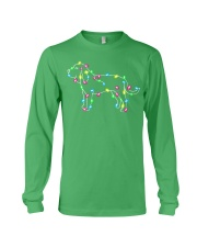 Christmas Lights Xmas Dog Bloodhound Long Sleeve Tee thumbnail