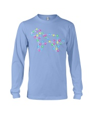 Christmas Lights Xmas Dog Bloodhound Long Sleeve Tee front