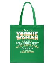 I Am A Yorkie Woman Tote Bag thumbnail