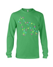 Christmas Lights Xmas Dog Boston Terrier Long Sleeve Tee front