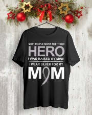 I Wear Silver For My Mom Classic T-Shirt lifestyle-holiday-crewneck-front-2
