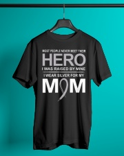 I Wear Silver For My Mom Classic T-Shirt lifestyle-mens-crewneck-front-3