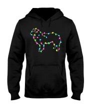 Christmas Lights Xmas Dog Border Collie Hooded Sweatshirt thumbnail