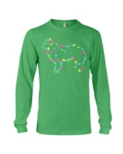Christmas Lights Xmas Dog Border Collie Long Sleeve Tee thumbnail
