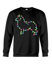 Christmas Lights Xmas Dog Collie Crewneck Sweatshirt thumbnail