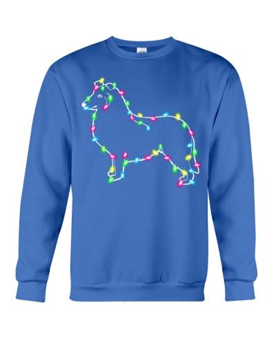 Christmas Lights Xmas Dog Collie