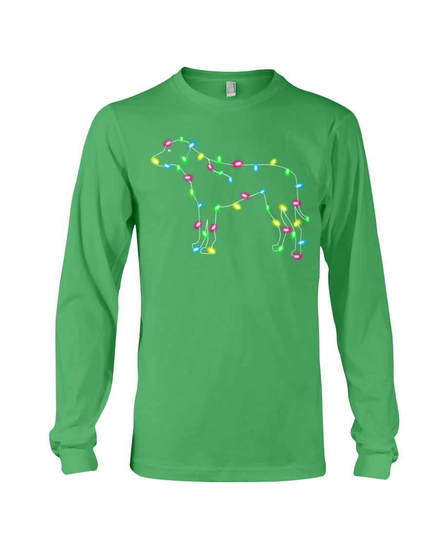 Christmas Lights Xmas Dog Rhodesian Ridgeback Long Sleeve Tee