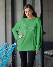Christmas Lights Xmas Dog Vizsla Long Sleeve Tee apparel-long-sleeve-tee-lifestyle-front-20