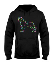 Christmas Lights Xmas Dog Mastiff Hooded Sweatshirt thumbnail