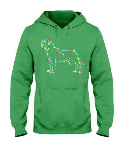 Christmas Lights Xmas Dog Mastiff
