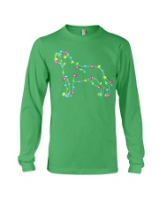 Christmas Lights Xmas Dog Mastiff Long Sleeve Tee front