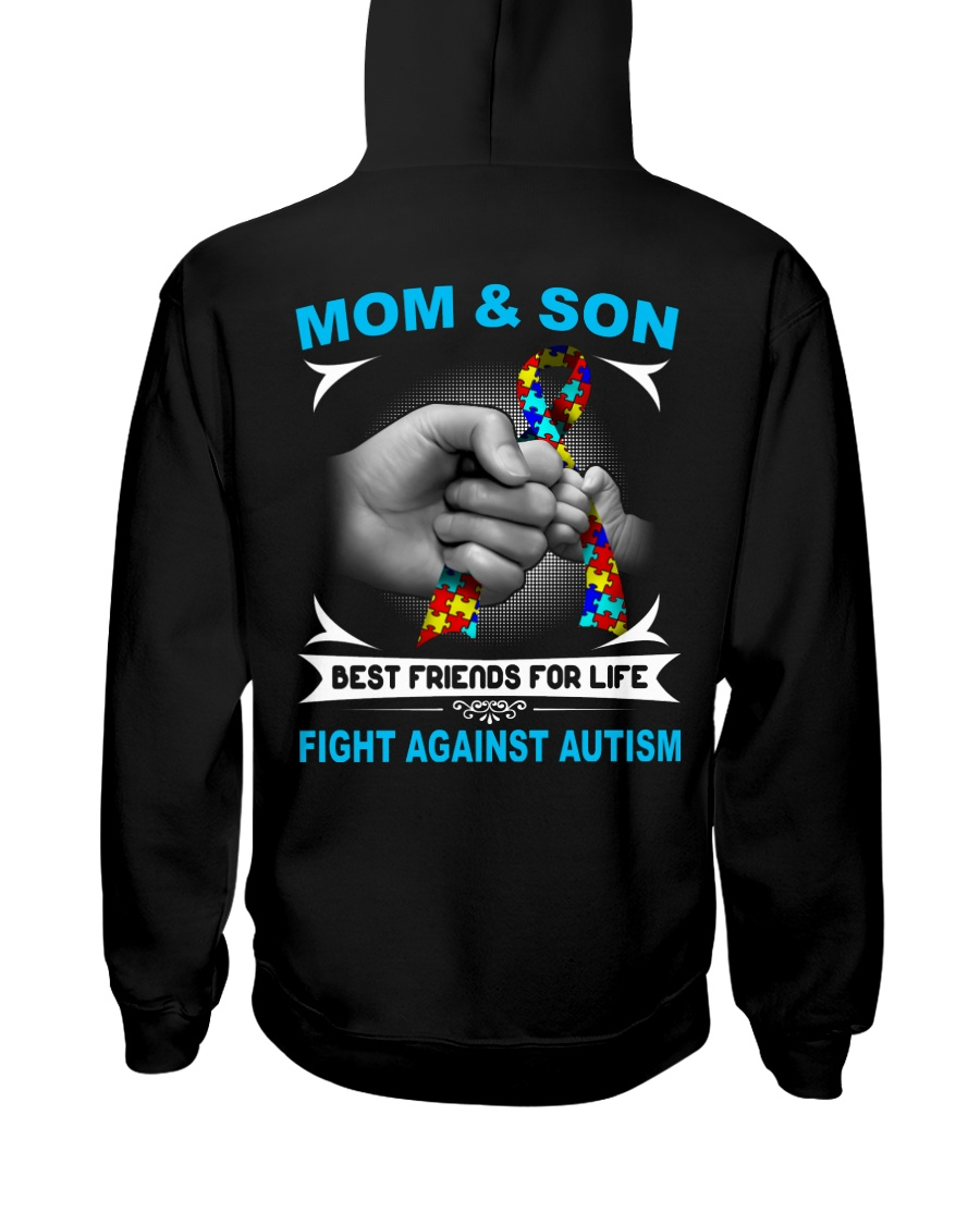 Autism Mom And Son Hooded Sweatshirt showcase