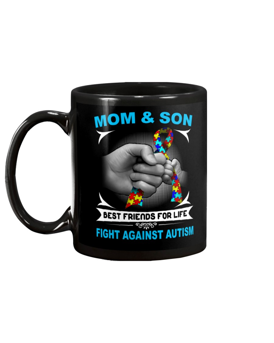 Autism Mom And Son Mug showcase