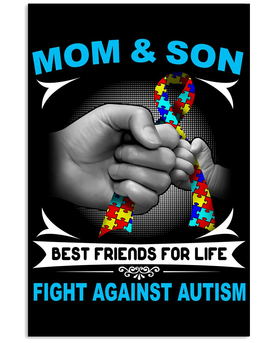Autism Mom And Son 11x17 Poster showcase
