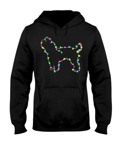 Christmas Lights Xmas Dog Yorkshire Terrier