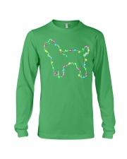 Christmas Lights Xmas Dog Yorkshire Terrier Long Sleeve Tee front