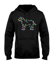 Christmas Lights Xmas Dog Labrador Retriever Hooded Sweatshirt thumbnail