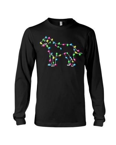 Christmas Lights Xmas Dog Labrador Retriever