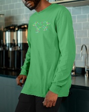 Christmas Lights Xmas Dog Labrador Retriever Long Sleeve Tee apparel-long-sleeve-tee-lifestyle-front-15