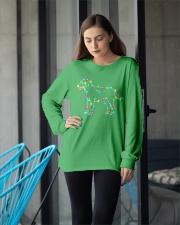 Christmas Lights Xmas Dog Labrador Retriever Long Sleeve Tee apparel-long-sleeve-tee-lifestyle-front-20
