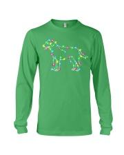 Christmas Lights Xmas Dog Labrador Retriever Long Sleeve Tee front
