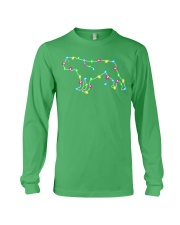 Christmas Lights Xmas Dog Bulldog Long Sleeve Tee thumbnail