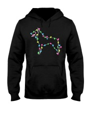 Christmas Lights Xmas Dog Belgian Malinois Hooded Sweatshirt thumbnail