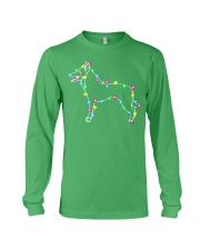 Christmas Lights Xmas Dog Belgian Malinois Long Sleeve Tee front