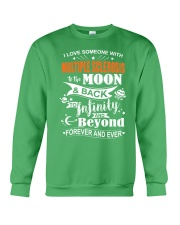 I Love Someone With MS To The Moon And Back Crewneck Sweatshirt front