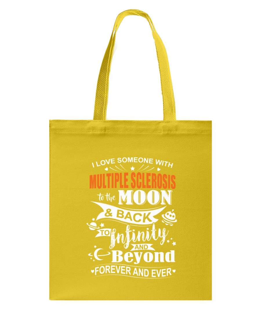 I Love Someone With MS To The Moon And Back Tote Bag