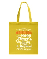 I Love Someone With MS To The Moon And Back Tote Bag front