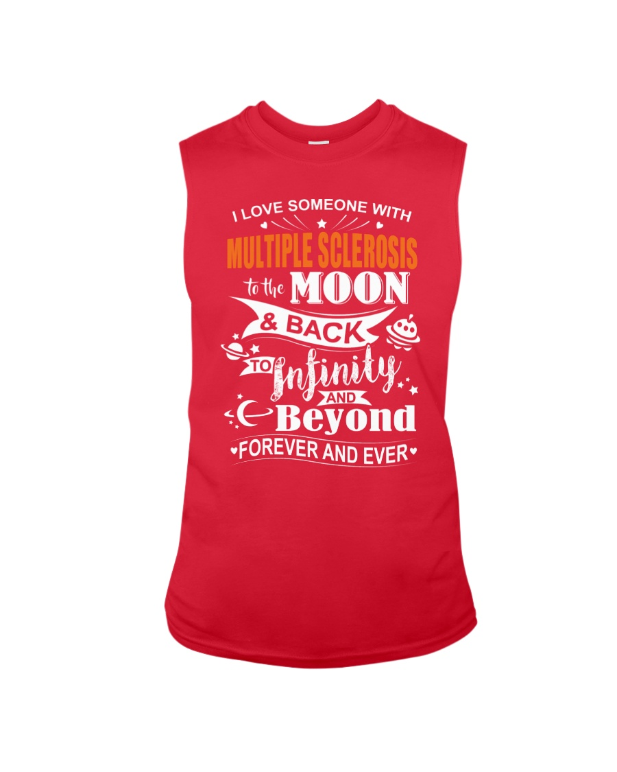 I Love Someone With MS To The Moon And Back Sleeveless Tee
