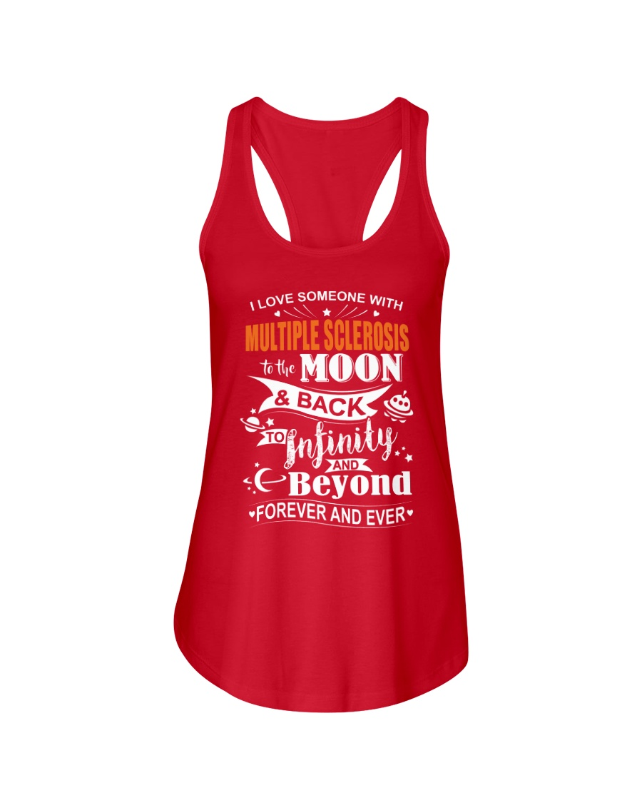I Love Someone With MS To The Moon And Back Ladies Flowy Tank