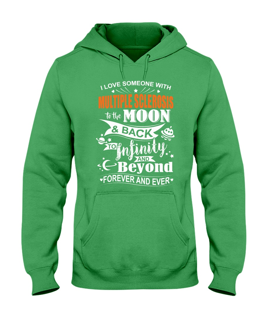 I Love Someone With MS To The Moon And Back Hooded Sweatshirt