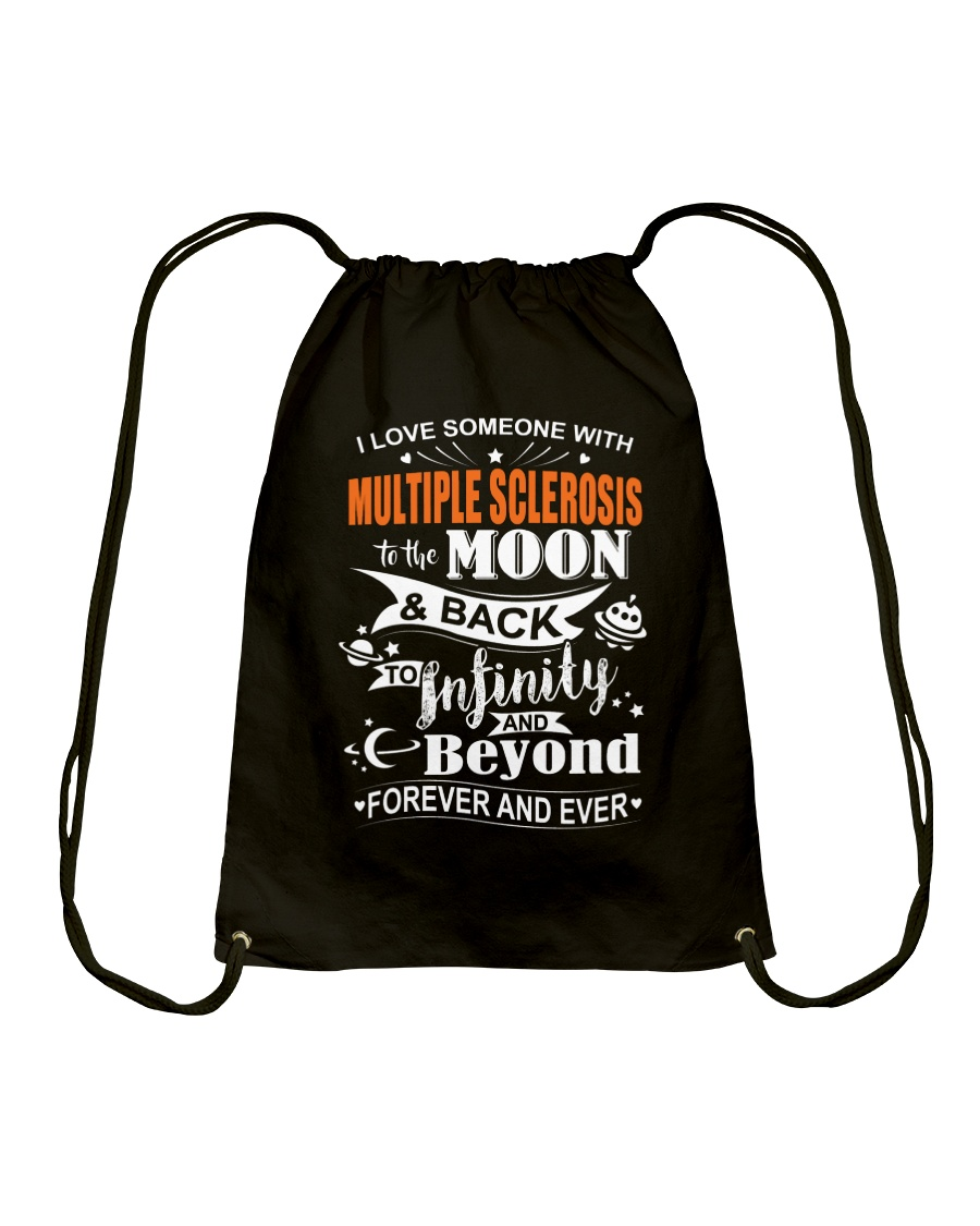 I Love Someone With MS To The Moon And Back Drawstring Bag