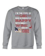 Yorkie Girl Crewneck Sweatshirt thumbnail