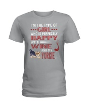 Yorkie Girl Ladies T-Shirt thumbnail