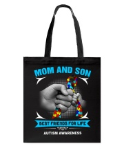 Autism Awareness Mom And Son Tote Bag thumbnail