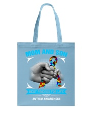Autism Awareness Mom And Son Tote Bag back