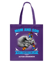 Autism Awareness Mom And Son Tote Bag thumbnail