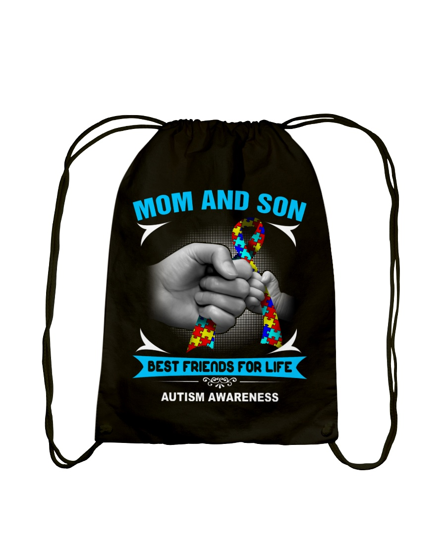 Autism Awareness Mom And Son Drawstring Bag