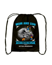 Autism Awareness Mom And Son Drawstring Bag thumbnail