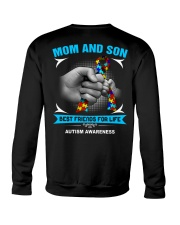 Autism Awareness Mom And Son Crewneck Sweatshirt thumbnail