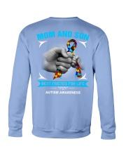 Autism Awareness Mom And Son Crewneck Sweatshirt back