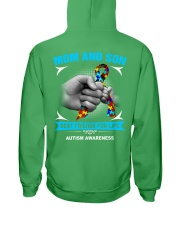 Autism Awareness Mom And Son Hooded Sweatshirt back