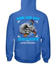 Autism Awareness Mom And Son Hooded Sweatshirt back