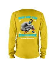 Autism Awareness Mom And Son Long Sleeve Tee back