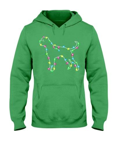Christmas Lights Xmas Dog Boxer