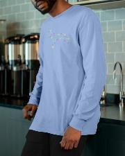 Christmas Lights Xmas Dog Doberman Pinscher Long Sleeve Tee apparel-long-sleeve-tee-lifestyle-front-15
