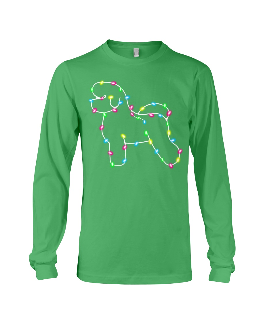 Christmas Lights Xmas Dog Bichon Frise Long Sleeve Tee